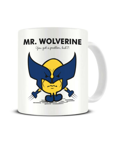 Mr Wolverine Mr Men Mashup Xmen Cartoon Tea Coffee Mug Funky NE Ltd ®