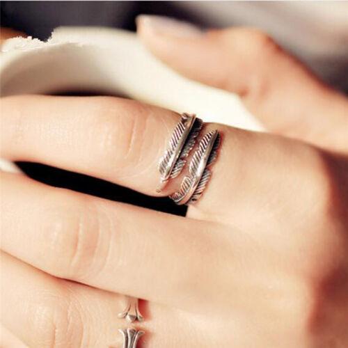 Feder Pfeil Öffnungs Ringe für Frauen und Männer Silber Schmuck sp X cg
