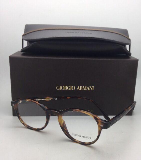 5660e5781b5 New GIORGIO ARMANI Round Eyeglasses AR 7004 5011 47-19 Matte Tortoise on  Havana