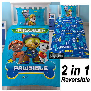76a08ef5916216 PAW PATROL SPY SINGLE DUVET COVER SET REVERSIBLE BEDDING CHASE ...