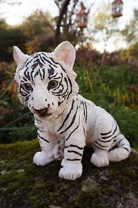 P851-161 Figurine Statue Tigre Bebe Blanc Animal Qvfgagql-07234655-272883172