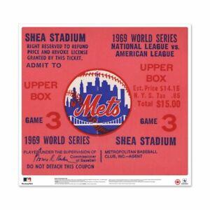 New York Mets Shea Stadium 1969 World Series Ticket Stub 24 Vinyl Wall Graphic Ebay