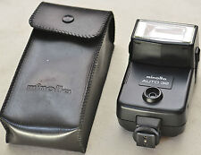 (PRL)  FLASH MINOLTA AUTO 32 SHOE MOUNT KONICA TILT HEAD BOUNCE FOR 35 mm CAMERA