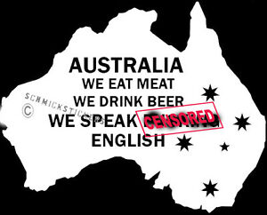 Map Of Australia Funny.Details About Australia Pride Eat Meat Speak F Ing English Southern Cross Map Funny Sticker