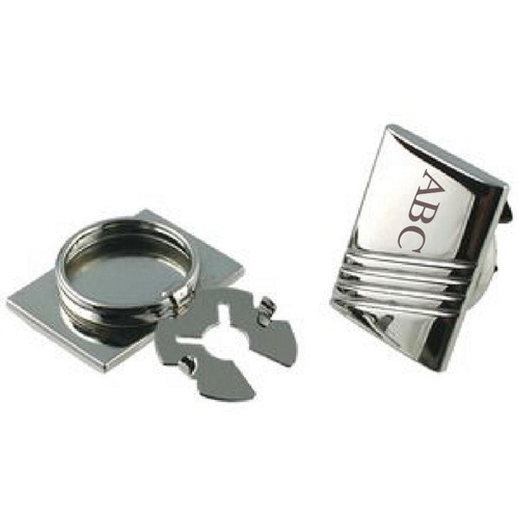 Pulsante personalizzato copre incise d'argentoo MAX MAX MAX 3 iniziali in Sacchetto a823d8