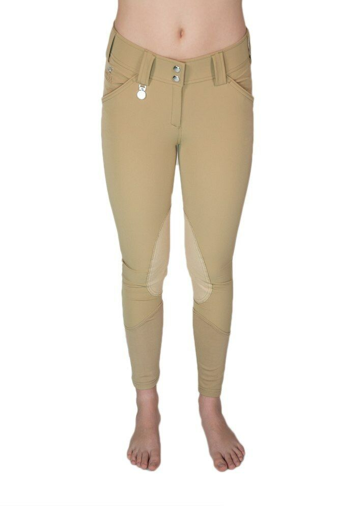 Kastel Camilla Suede Knee Patch Breech  Tan  28