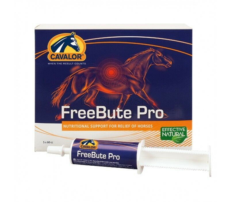 CAVALOR FREE BUTE  PRO 5x50g Syringe Support for Pain Relief of Horses Supplement  free and fast delivery available