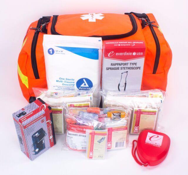 BRAND NEW PARAMEDIC FIRST RESPONDER TRAUMA EMERGENCY MEDICAL KIT- FULLY STOCKED
