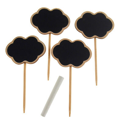 Chalkboard Wooden Clothespins Stakes Plaques Table Sign