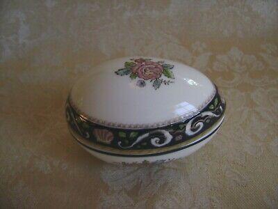 Coronation China Trinket Box with Lid