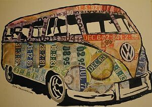vw-splitty-camper-Limited-edition-A3-gloss-poster-of-original-art-from-tax-discs