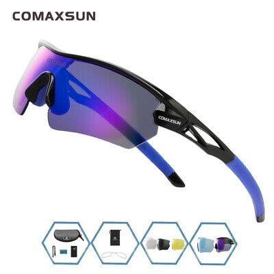 Comaxsun Polarized 5 Len Cycling Glasses MTB Road Sports Sunglasses UV400 TR90