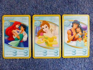 Morrisons-Disney-3-Cards-20th-Anniversary-Collection-H2-H5-H8-Princesses-Mermaid