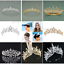 Bridal-Princess-Party-Crystal-Tiara-Wedding-Crown-Veil-Hair-Accessory-Headband thumbnail 1