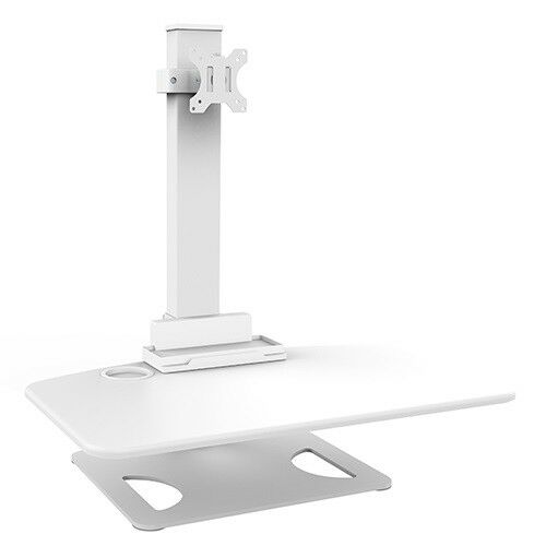 Desk Mount or Clamp Brateck DWS03T01WH Single Display Height Adjustable Stand