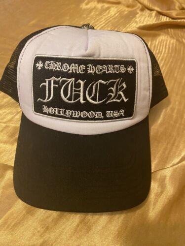 Chrome Hearts Hat Trucker White & Black