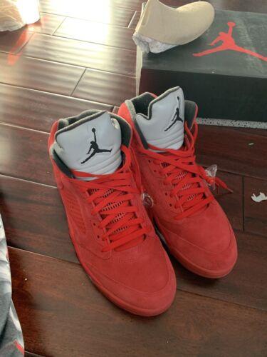 Jordan 5 o Tama Air 12 886060354778 de 136027 Nike V 602 Traje Rojo vuelo Retro 4awtPIq