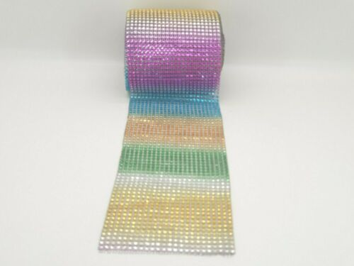 free delivery Diamante effect, rhinestone mesh ribbon trimming ...