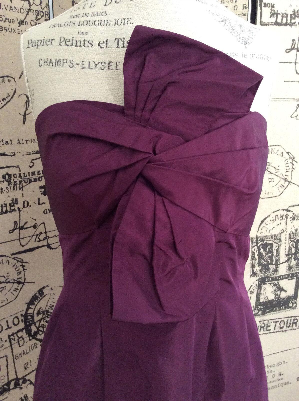 J. J. J. Crew Purple Strapless Dress Size 10 442add