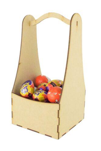 Children/'s Easter Gift Plain Wooden MDF Wood Craft Easter Basket