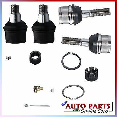 Brand New 2 Upper 2 Lower Ball Joints For Ram 2500 3500 Ford F250 F350 4wd