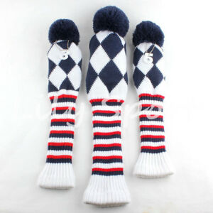 Knitted-Pom-Pom-Golf-Driver-Headcover-13-5-Fairway-Woods-Covers-For-Titleist