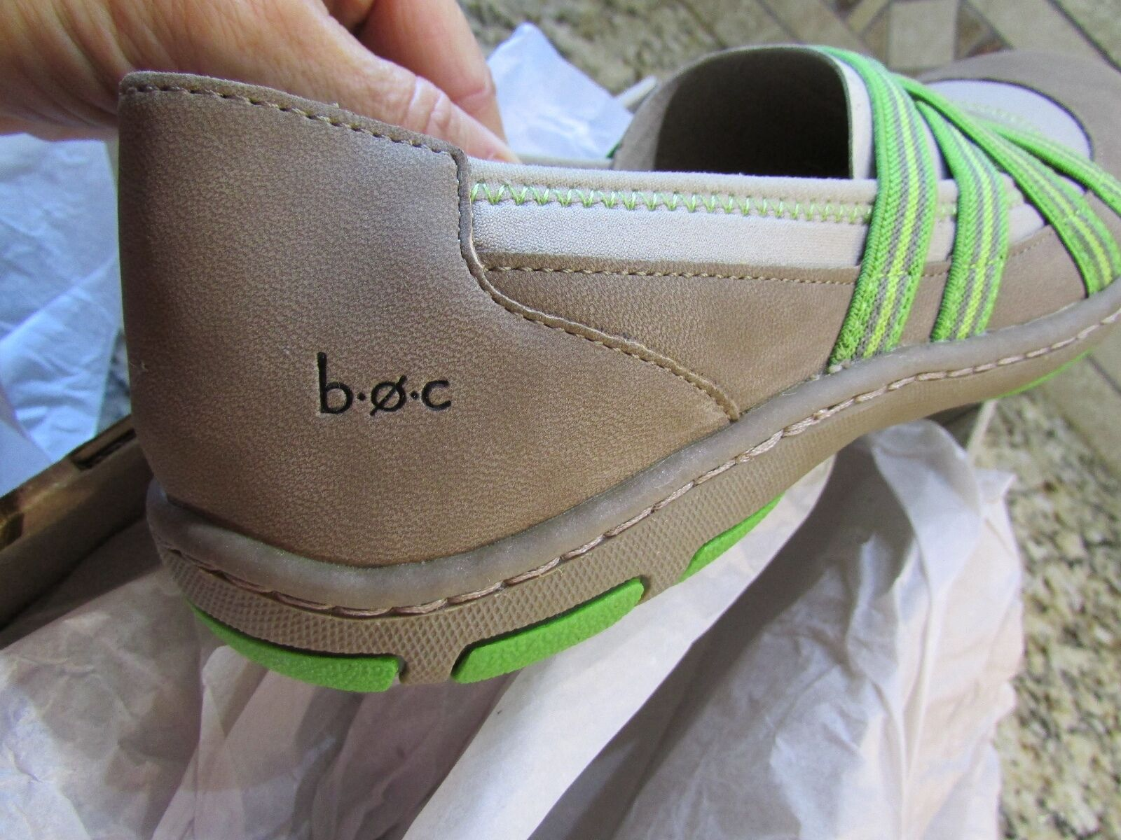 NEW BORN B.O.C NAMBE TAUPE LOAFER MARY JANE SLIP ON LOAFER TAUPE Schuhe Damenschuhe 9 FREE SHIP 4d96e7