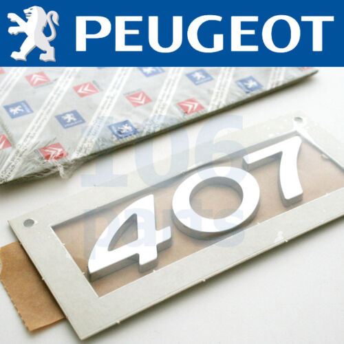 PEUGEOT 407 ESTATE NEW SILVER 407 BODY BADGE 110x35mm NEW /& GENUINE O.E PART!