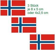 3 Drapeaux Disque Démarrage Norvège Autocollant De Voiture Caravane De Camions