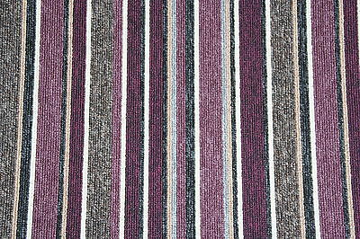 Quality Purple Striped Carpet Any Room! Any Size x 13ft, Stairs Landing Carpet