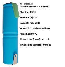 BATTERIA NI/MH 2X1.2V 2,4V - 2 AH PER GRATI' ARIETE 40 440 443