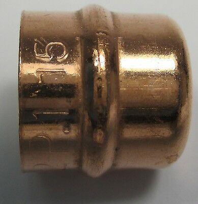 SOLDER RING STOP END CAP FITTINGS 8 10 15 22 28 35 42 54 mm COPPER PIPE PLUMBING