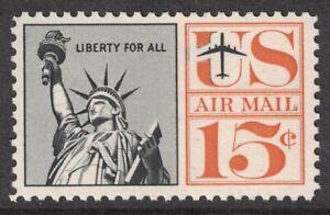 Scott-C63-Estatua-de-Liberty-MNH-15c-1961-sin-Usar-Nuevo-Correo-Aereo-Sello