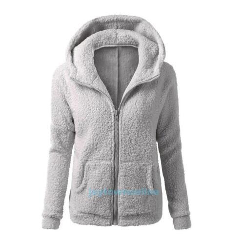Cute Women Thicken Fleece Winter Warm Coat Hooded Parka Overcoat Jacket Outwear