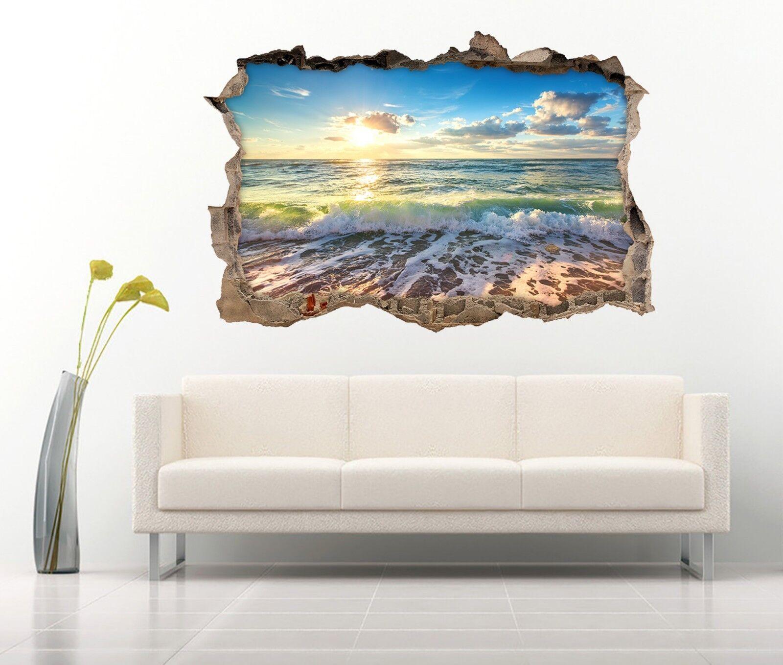 3D Schönes Meer 052 Mauer Murals Mauer Aufklebe Decal Durchbruch AJ WALLPAPER DE