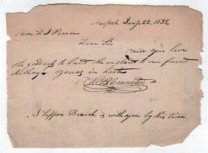 1832 Newport Rhode Island Als Document LETTRE M B Cranston Ri Prof J Pearce 4KmEPXOA-09152856-841468230