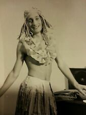 VINTAGE CUTE YOUNG SLIM SKIN MAN CROSS DRESSER HAPPY TRAIL GAY INT PHOTO