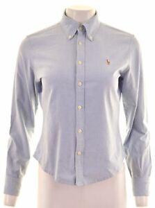 RALPH-LAUREN-Womens-Shirt-US-10-Large-Blue-Cotton-BB07