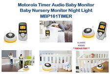 MOTOROLA TIMER Audio Baby Monitor-Baby Nursery Monitor Night Light MBP 161 TIMER