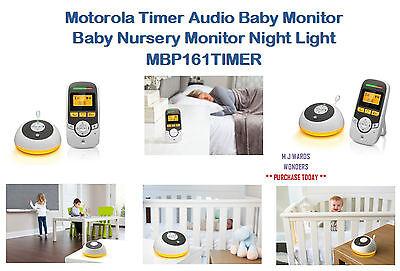 Motorola Timer Audio Baby Monitor with Night Light /& Room Temp Display MBP161