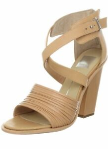 Dolce-Vita-Womens-Size-10-Brown-Tan-Nicola-Sandal-Block-Heels-Ankle-Strap