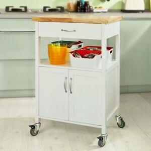SoBuy® Carrello cucina,Scaffale da ufficio,mensola angolare, Legno ...