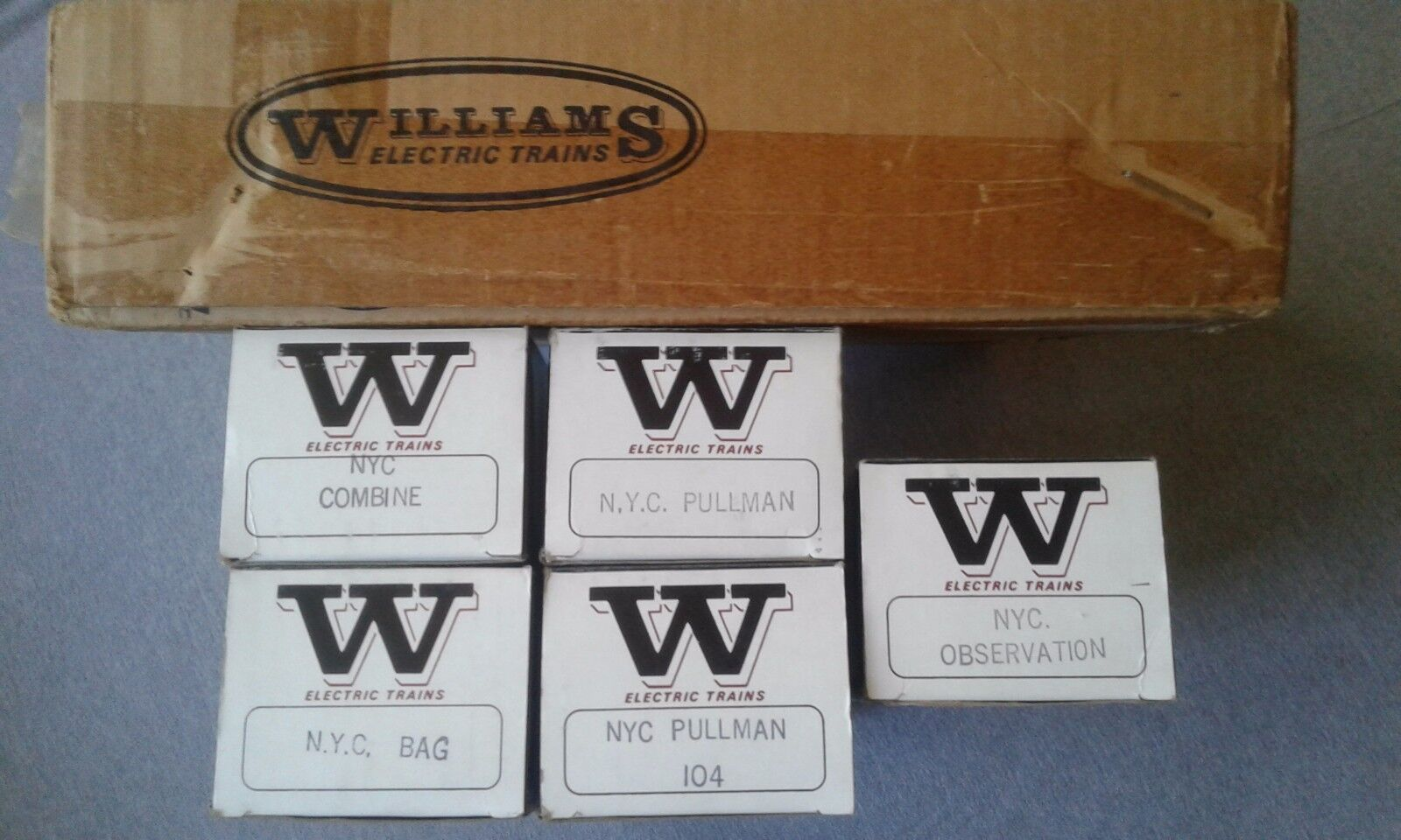 Williams Electric Trains o calibre NYC 5 coche Madison Set  soldado de juguete