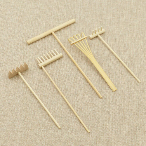 Mini Natural Bamboo Rake For Zen Sand Table Meditation Feng Shui Home Decor USA