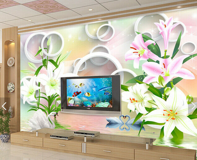 3D color Flowers Ring 689 Wall Paper Wall Print Decal Deco Indoor Wall Mural CA