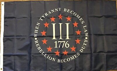3 Percenter Tyranny 110g knitted Heavy Duty FLAG OATH KEEPER MONEY CLIP 3 x 5