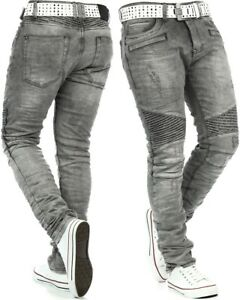 RedBridge-Herren-Jeans-Biker-Freizeit-Hose-Denim-Slim-Fit-Clubwear-Mens-Pants