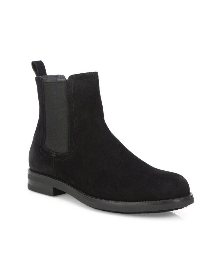 Brand New To Boot New York 'Frazier' Black Suede Chelsea Boots Size 9  398.00