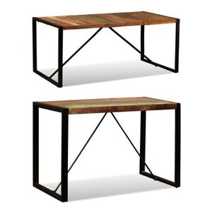 vidaXL-Dining-Table-Solid-Reclaimed-Wood-Steel-Industrial-47-2-034-70-9-034-Kitchen