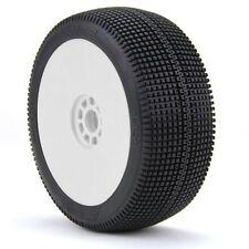 AKA Racing 1:8 Buggy Zipps (Super Soft) EVO Wheel Mounted (White) (2)